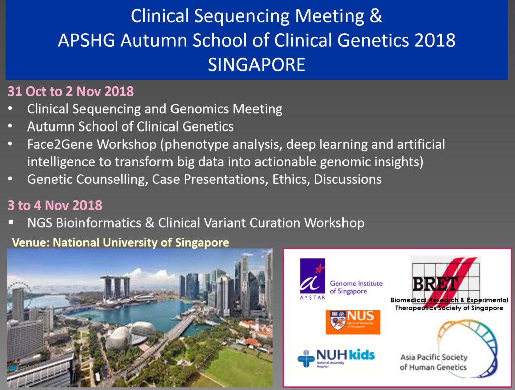 APSHG Sg Autumn School 2018